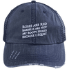 Because I Squats Distressed Trucker Cap Apparel CustomCat 6990 Distressed Unstructured Trucker Cap Navy/Navy One Size