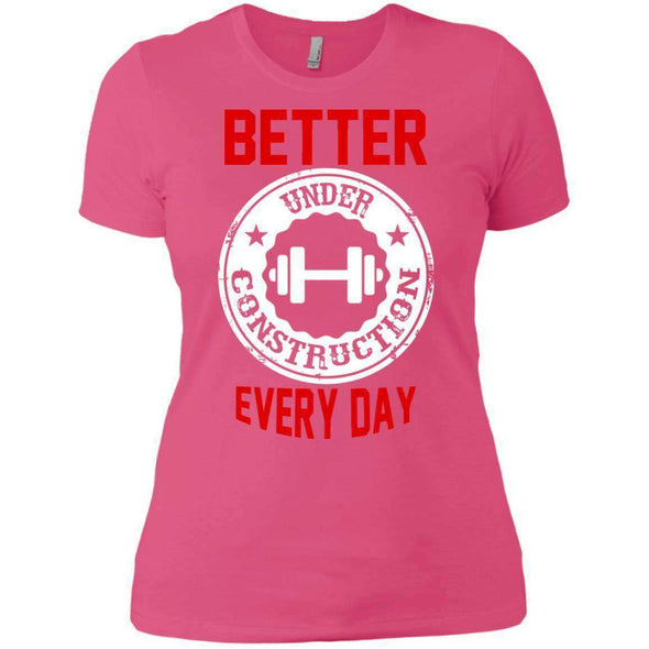 Better Everyday white T-Shirts CustomCat Hot Pink X-Small