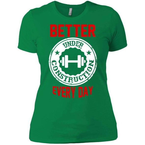 Better Everyday white T-Shirts CustomCat Kelly Green X-Small