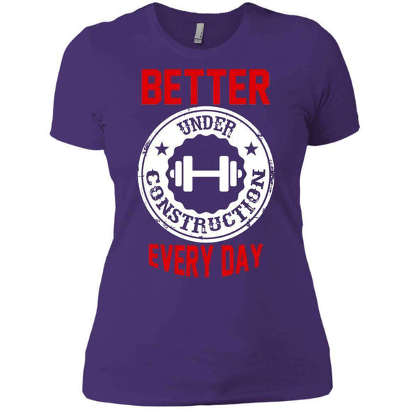 Better Everyday white T-Shirts CustomCat Purple Rush/ X-Small