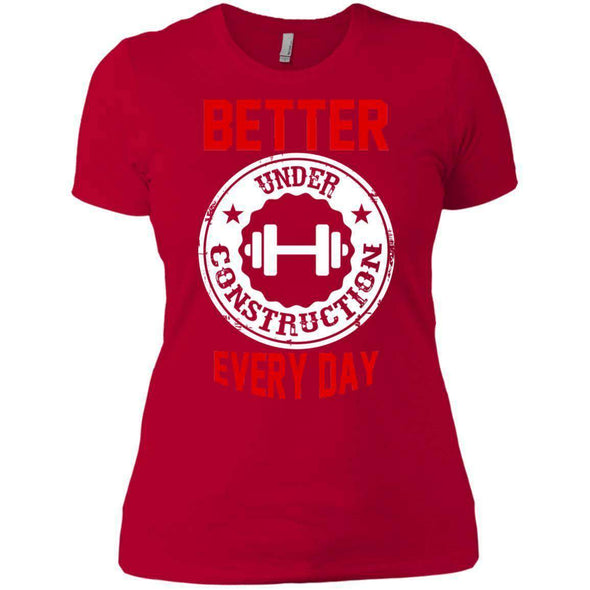 Better Everyday white T-Shirts CustomCat Red X-Small