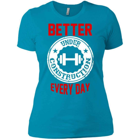 Better Everyday white T-Shirts CustomCat Turquoise X-Small