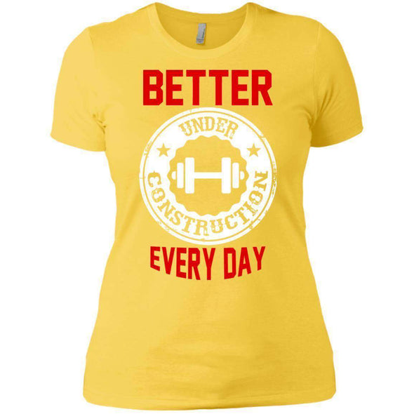 Better Everyday white T-Shirts CustomCat Vibrant Yellow X-Small