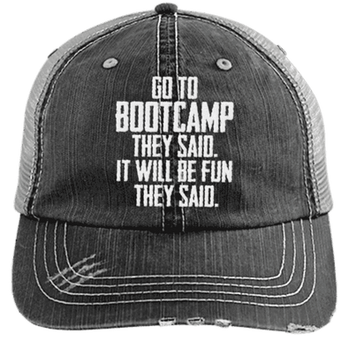 Bootcamp They Said Hats CustomCat Black/Grey One Size