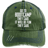 Bootcamp They Said Hats CustomCat Dark Green/Navy One Size
