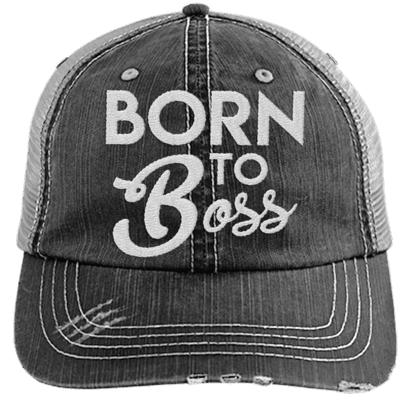 Born to Boss Hats CustomCat Black/Grey One Size
