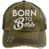 Born to Boss Hats CustomCat Brown/Navy One Size
