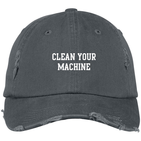 Clean your Machine Caps Apparel CustomCat Distressed Dad Cap Nickel One Size
