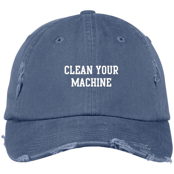 Clean your Machine Caps Apparel CustomCat Distressed Dad Cap Scotland Blue One Size