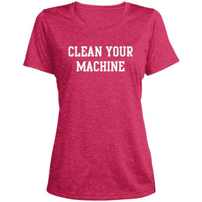 Clean your Machine Dri-Fit T-Shirt T-Shirts CustomCat Pink Raspberry Heather X-Small