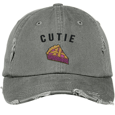 Cutie Pie Cap Apparel CustomCat DT600 District Distressed Dad Cap Light Olive One Size