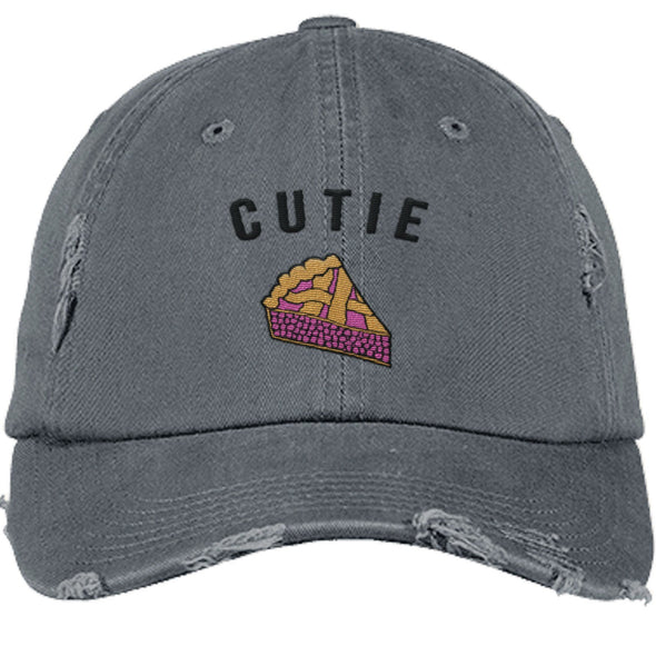 Cutie Pie Cap Apparel CustomCat DT600 District Distressed Dad Cap Nickel One Size