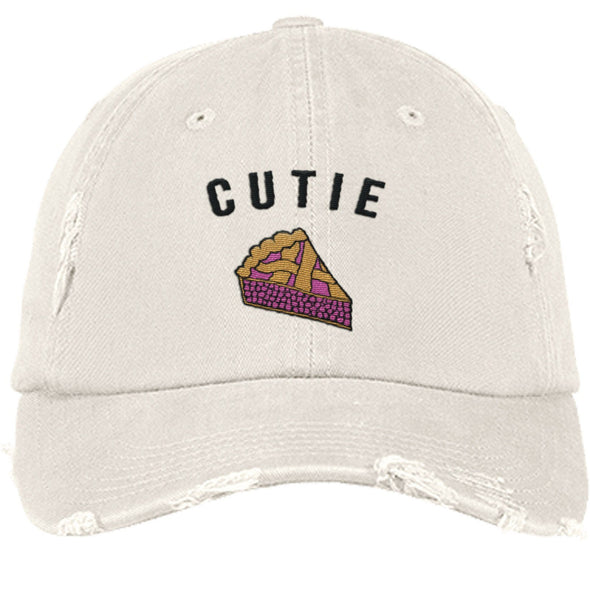 Cutie Pie Cap Apparel CustomCat DT600 District Distressed Dad Cap Stone One Size