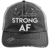 Destination Strong AF Hats CustomCat Black/Grey One Size