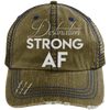 Destination Strong AF Hats CustomCat Brown/Navy One Size