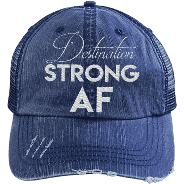 Destination Strong AF Hats CustomCat Navy/Navy One Size