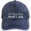 Do They Know Who I Am Distressed Trucker Cap Apparel CustomCat 6990 Distressed Unstructured Trucker Cap Navy/Navy One Size