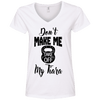 Don't Make Me Take Off My Tiara Apparel CustomCat Ladies' V-Neck Tee White Small