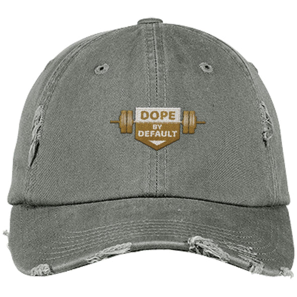 Dope by Default Cap Apparel CustomCat Distressed Dad Cap Light Olive One Size