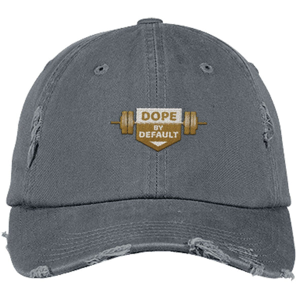 Dope by Default Cap Apparel CustomCat Distressed Dad Cap Nickel One Size