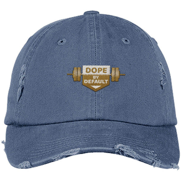 Dope by Default Cap Apparel CustomCat Distressed Dad Cap Scotland Blue One Size