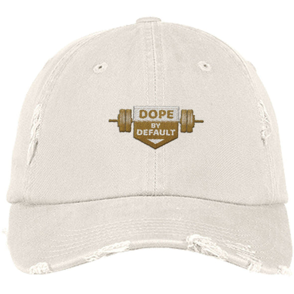 Dope by Default Cap Apparel CustomCat Distressed Dad Cap Stone One Size