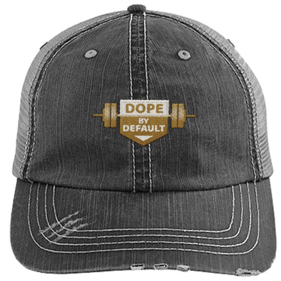 Dope by Default Cap Apparel CustomCat Trucker Cap Black/Grey One Size
