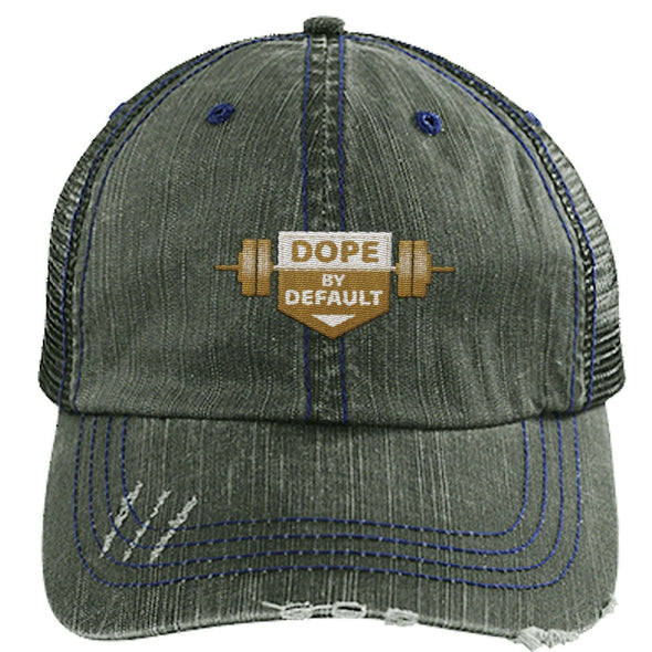 Dope by Default Cap Apparel CustomCat Trucker Cap Dark Green/Navy One Size