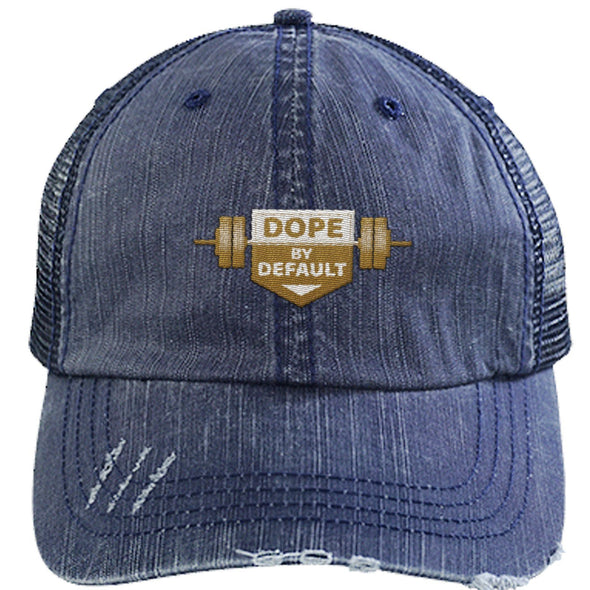 Dope by Default Cap Apparel CustomCat Trucker Cap Navy/Navy One Size