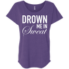 Drown Me in Sweat Tees Apparel CustomCat NL6760 Next Level Ladies' Triblend Dolman Sleeve Purple Rush X-Small