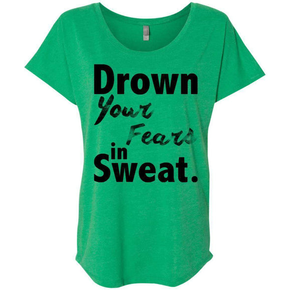 Drown Your Fears in Sweat T-Shirts CustomCat Envy X-Small