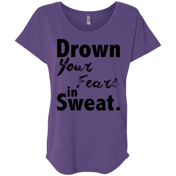 Drown Your Fears in Sweat T-Shirts CustomCat Purple Rush X-Small