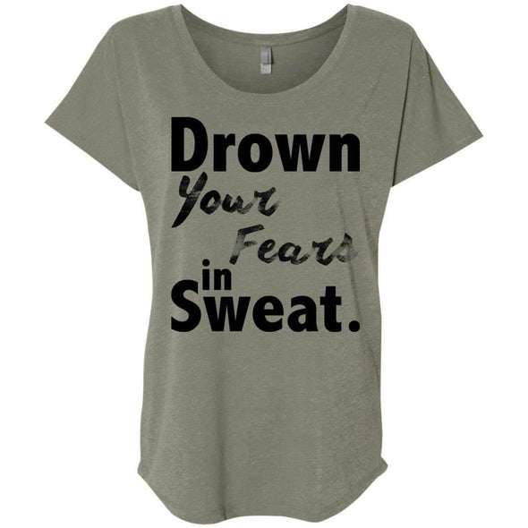 Drown Your Fears in Sweat T-Shirts CustomCat Venetian Grey X-Small