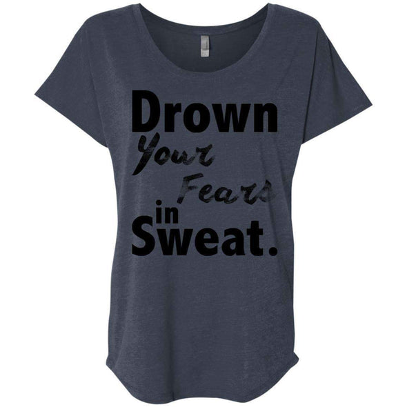 Drown Your Fears in Sweat T-Shirts CustomCat Vintage Navy X-Small