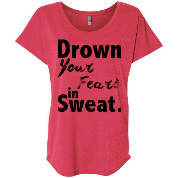 Drown Your Fears in Sweat T-Shirts CustomCat Vintage Red X-Small