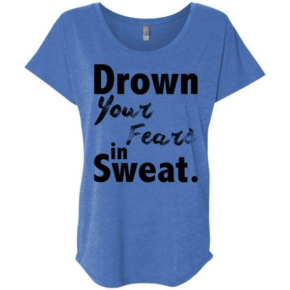 Drown Your Fears in Sweat T-Shirts CustomCat Vintage Royal X-Small