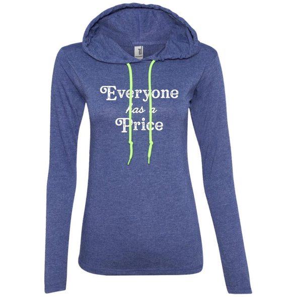 Everyone has a Price T-Shirt Hoodie T-Shirts CustomCat Heather Blue/Neon Yellow S