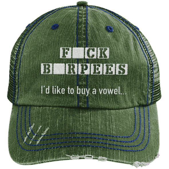 F BURPEES Hats CustomCat Dark Green/Navy One Size
