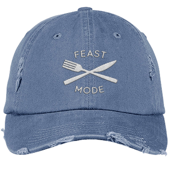 Feast Mode Cap Apparel CustomCat Distressed Dad Cap Scotland Blue One Size