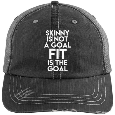 Fit is the Goal Hats CustomCat Black/Grey One Size