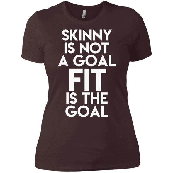 Fit is the Goal T-Shirts CustomCat Dark Chocolate X-Small