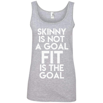 Fit is the Goal T-Shirts CustomCat Heather Grey S