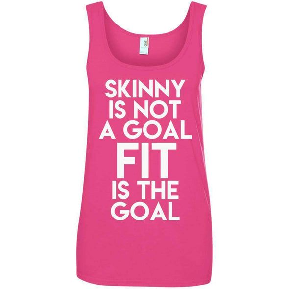 Fit is the Goal T-Shirts CustomCat Hot Pink S