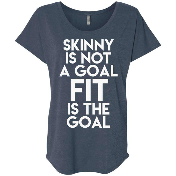 Fit is the Goal T-Shirts CustomCat Indigo X-Small