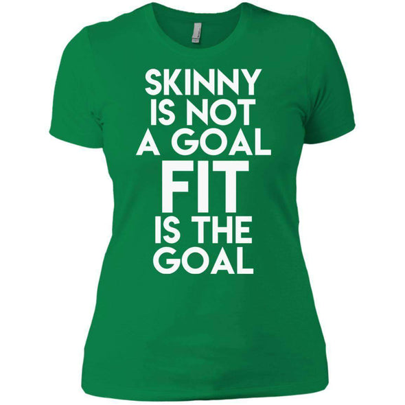 Fit is the Goal T-Shirts CustomCat Kelly Green X-Small
