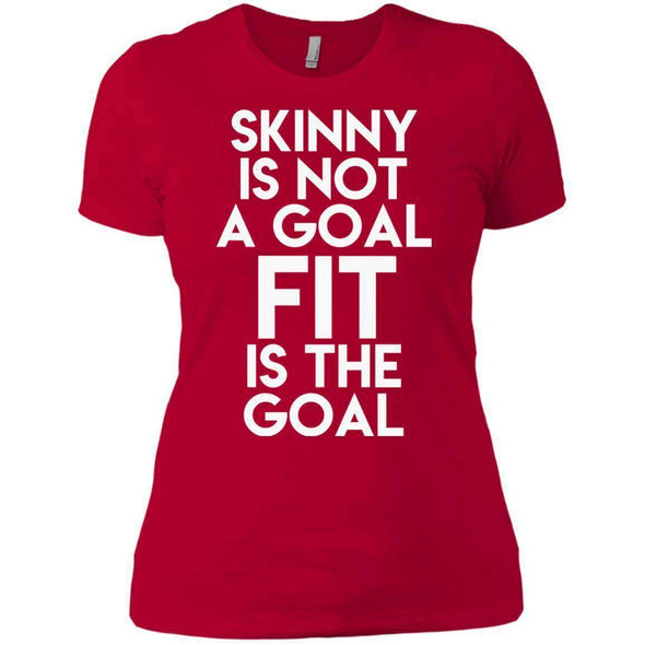 Fit is the Goal T-Shirts CustomCat Red X-Small