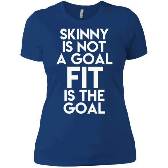 Fit is the Goal T-Shirts CustomCat Royal X-Small
