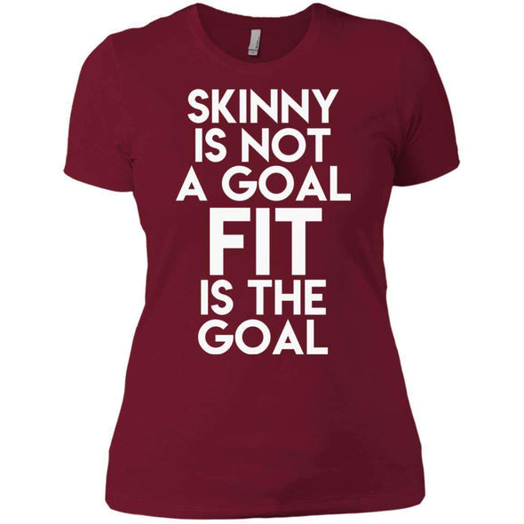 Fit is the Goal T-Shirts CustomCat Scarlet X-Small