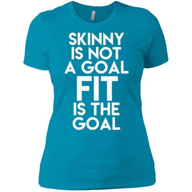 Fit is the Goal T-Shirts CustomCat Turquoise X-Small