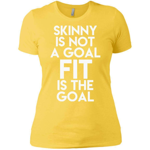 Fit is the Goal T-Shirts CustomCat Vibrant Yellow X-Small